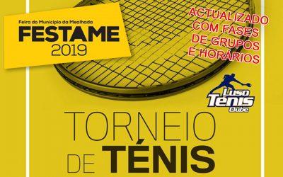 Torneio de Ténis – Festame 2019 (ACTUALIZADO COM FASE GRUPOS E HORÁRIOS)